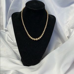 Delicate Vintage CORO signed Pearl Necklace